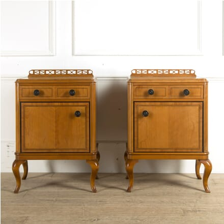 Pair of Warring and Gillows Satinwood Bedside Cabinets BD889965