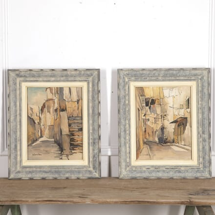 Pair of Impressionist Watercolours of Corsica WD3015048