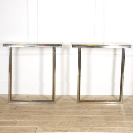 Pair of Willy Rizzo Console Tables CO4517390