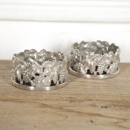 Pair of Silver Plate Wine Coasters DA1515327