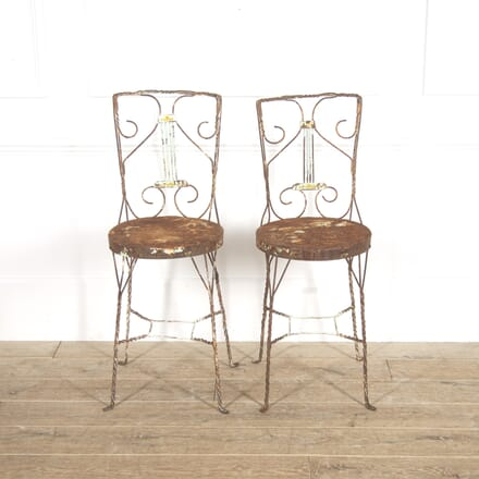 Pair of Wirework and Steel Provençal Chairs DA2914850