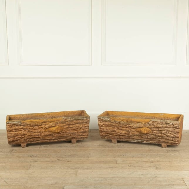 Pair of Wood Planters GA5211218