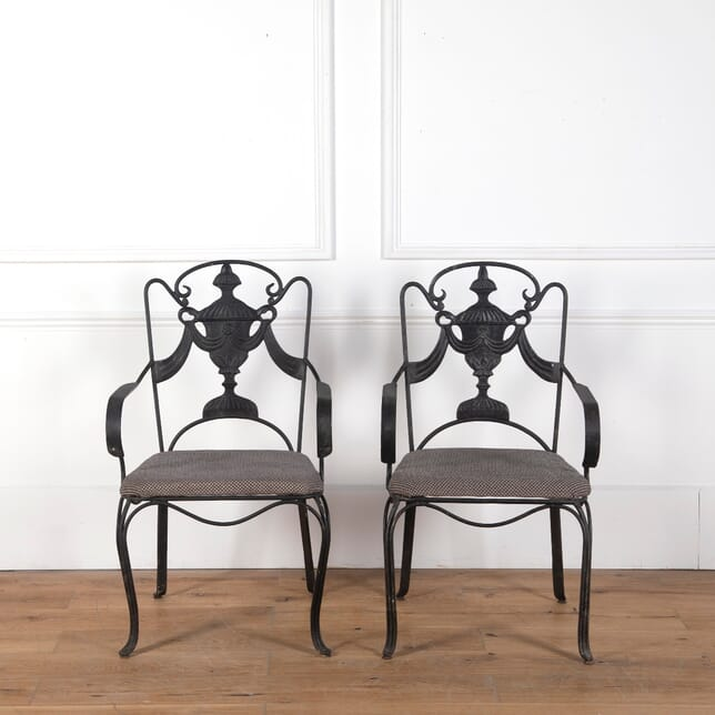 Pair of Wrought Iron Chairs CH3610742