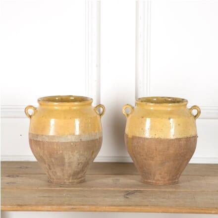 Pair of Yellow Confit Pots DA1510040