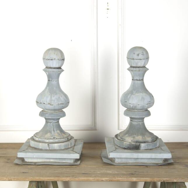 Pair of Zinc Decorative Finials GA7510201