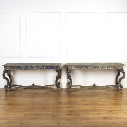 Pair of Italian Painted Console Tables CO3617332