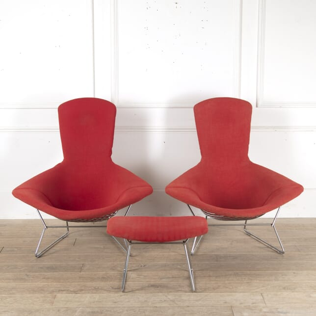 Pair of 'Bird' Chairs and Stool by Harry Bertoia CH7814035