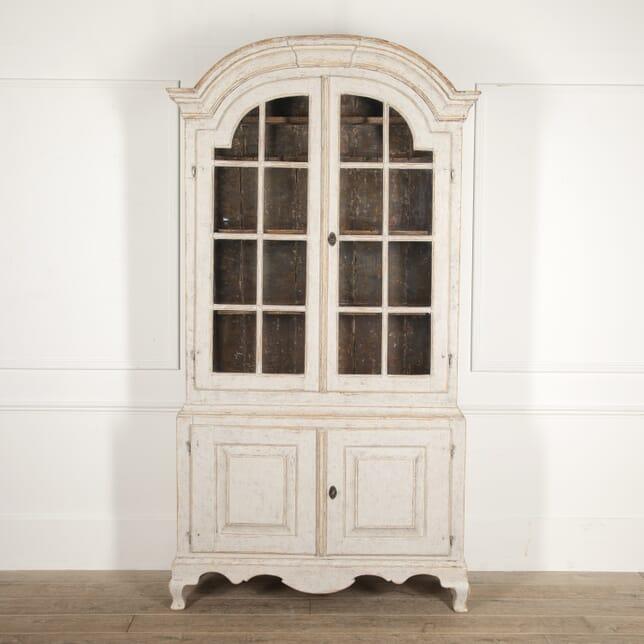 Period Swedish Rococo Glazed Cabinet CU6014676