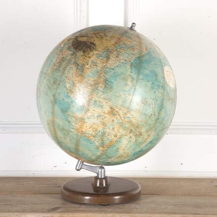 Philips Terrestrial Globe on a Turned Wooden Base DA8013781