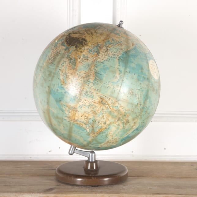 Philips Terrestrial Globe on a Turned Wooden Base DA8013781