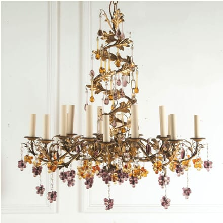 16 Branch Italian Amethyst and Amber Chandelier LC2112818