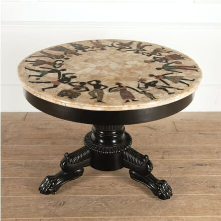 French 19th Century Ebonised and Specimen Marble Table TC4114490