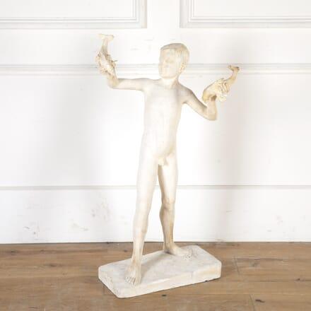 Plaster Maquette Sculpture of a Young Boy DA8013778