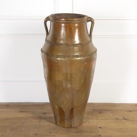 Early 20th Century Portuguese Glazed Amphora DA8716413