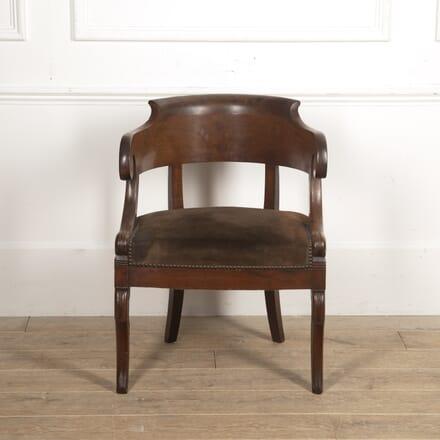 French Restauration Walnut Desk Chair CH1515230