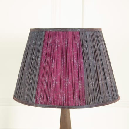 Prussian Blue and Violet Silk Lampshade LS669035