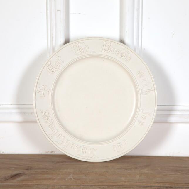 Pugin Style Parian Ware Bread Plate DA9011158