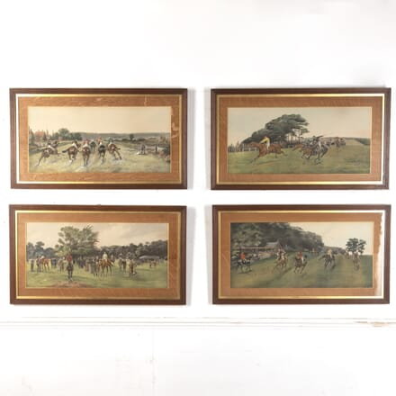 Set of Horse Race Paintings by John Beer WD4016735