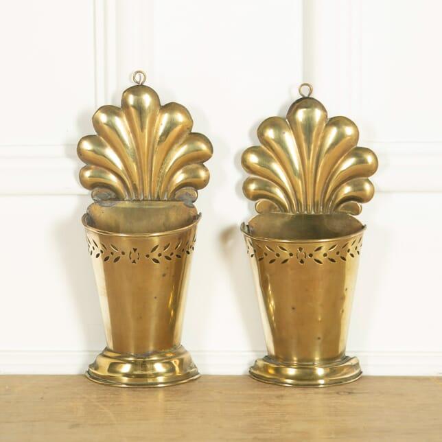 Rare Pair of Brass Wall Utensil Holders DA159090