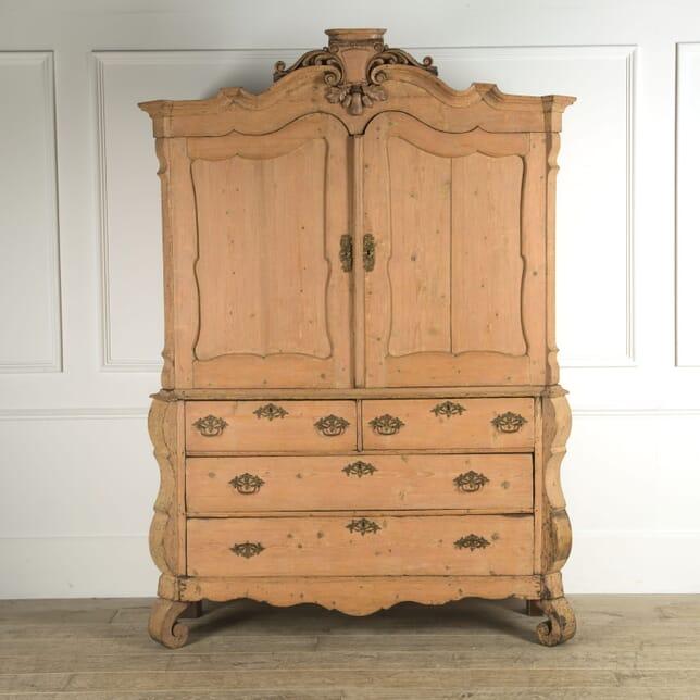 Rare Pale Pink Dutch Country Cabinet CU609294