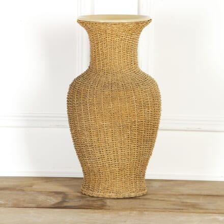 20th Century Pottery and Rattan Vase DA4317693