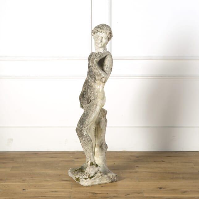 """Reconstituted Stone Statue of """"David"""" GA739176"""