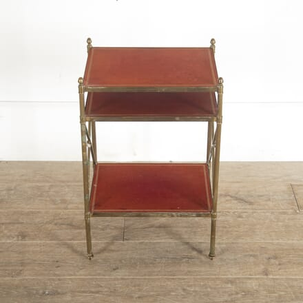 Red Leather and Brass Occasional table TC5213612