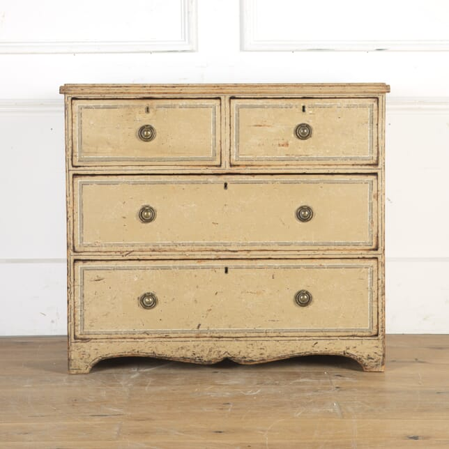 Regency Original Painted Pine Chest of Drawers CC9014372