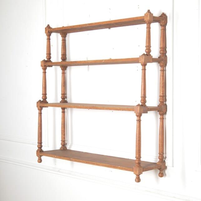 Regency Pine Wall Shelves in Original Paint BK0916034
