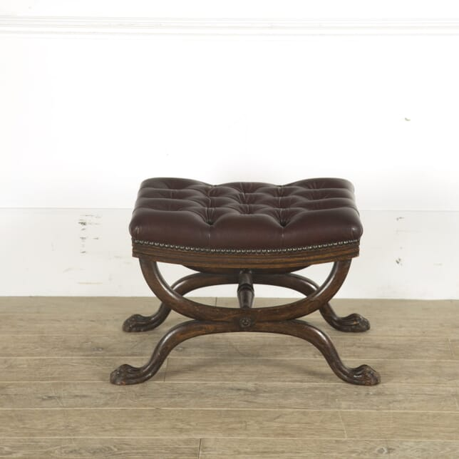 Regency Period Leather Footstool ST889762