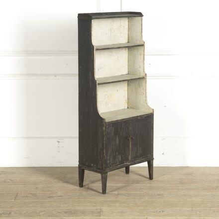 Regency Period Painted Pine Waterfall Bookcase BK0910496