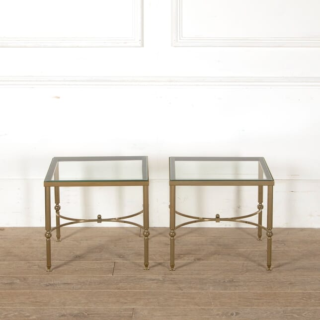 Pair of Mid Century Brass Occasional Tables TC889959