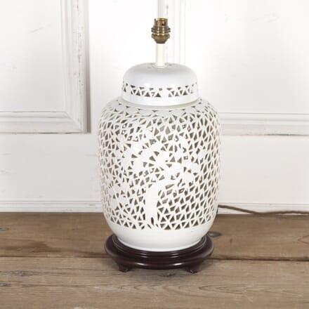 Reticulated Porcelain Blanc De Chine Table Lamp LT9016115
