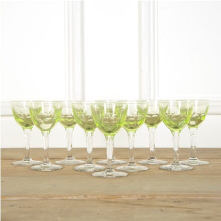 Set of Uranium Val Saint Lambert Wine Glasses DA589625