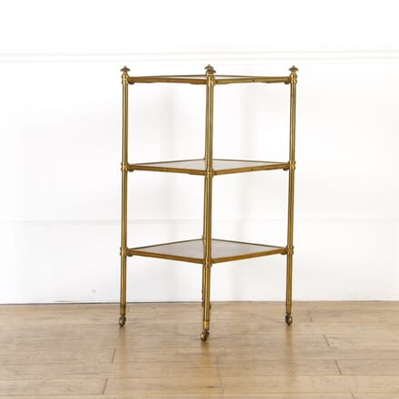 Rosewood and Brass Etagere TC0317468