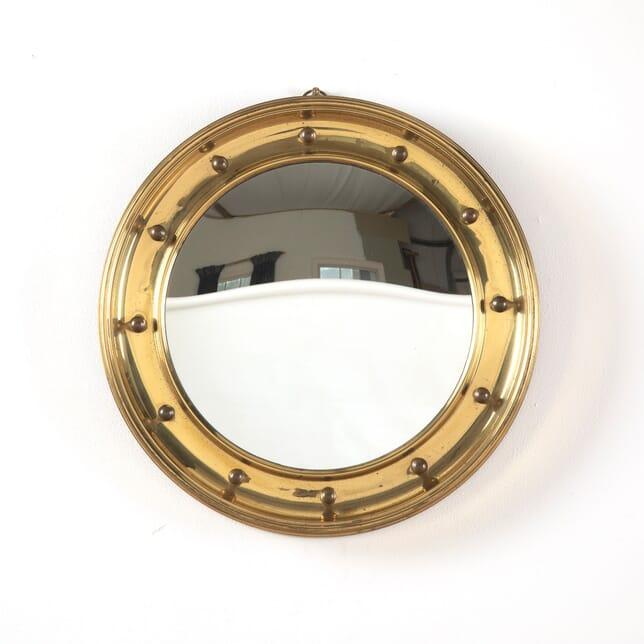 Round Brass Convex Mirror MI1511576