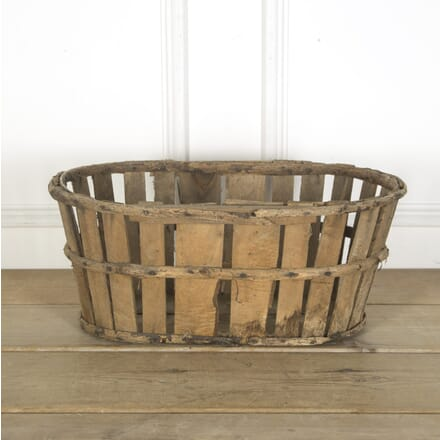 Rustic Wooden Basket GA719836