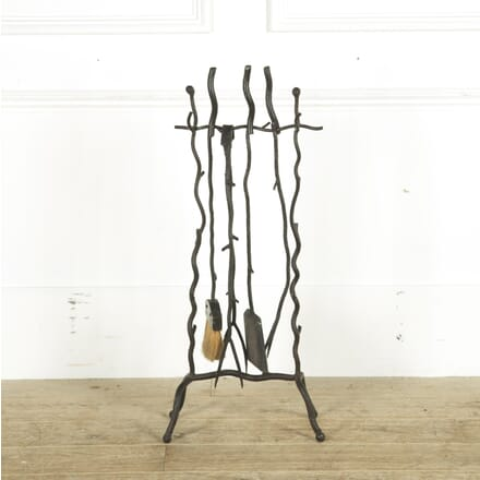 Rustic Wrought Iron Set of Fire Tools DA299349