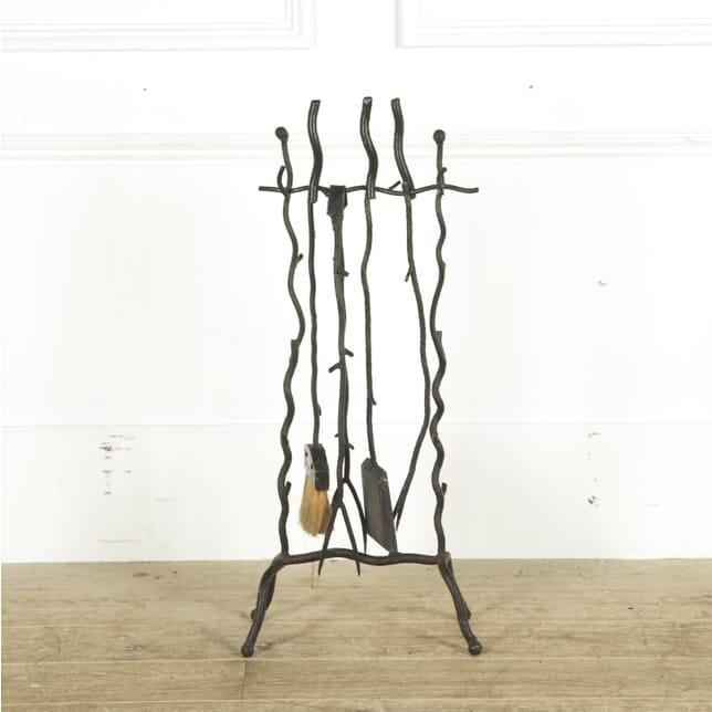Rustic Wrought Iron Set of Fire Tools DA299349