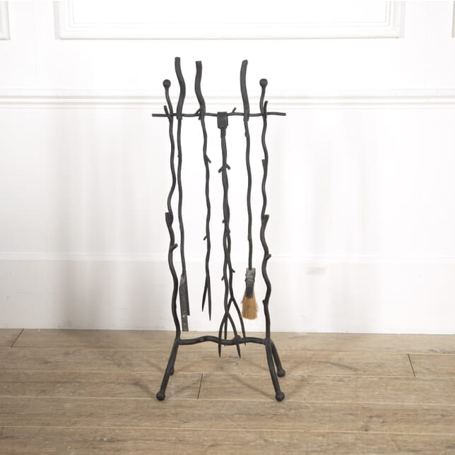 Wrought-Iron Fire Tools and Stand DA2914845