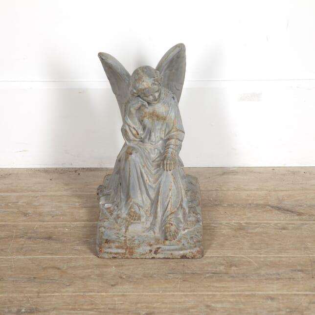 Cast Iron Seated Angel Statue GA1515356
