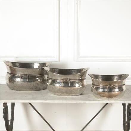 Set of Large Silver Plate Vasques DA1510700