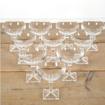 Set of 10 Bohemia Crystal Champagne Coupes DA1510065
