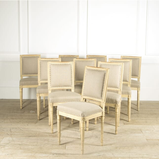 Set of 10 Louis XVI Style Dining Chairs CD019385