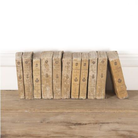 Set of 11 19th Century French 'Theatre Francais' Books DA4414132