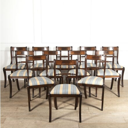 Set of 12 English Regency Style Dining Chairs CD8815121