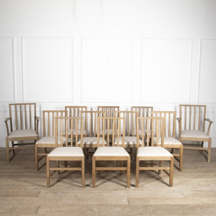 Set of 12 Gordon Russell Dining Chairs CH0515873