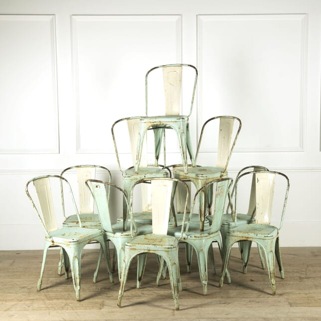 Set of 12 Painted Tolix Chairs CD299345