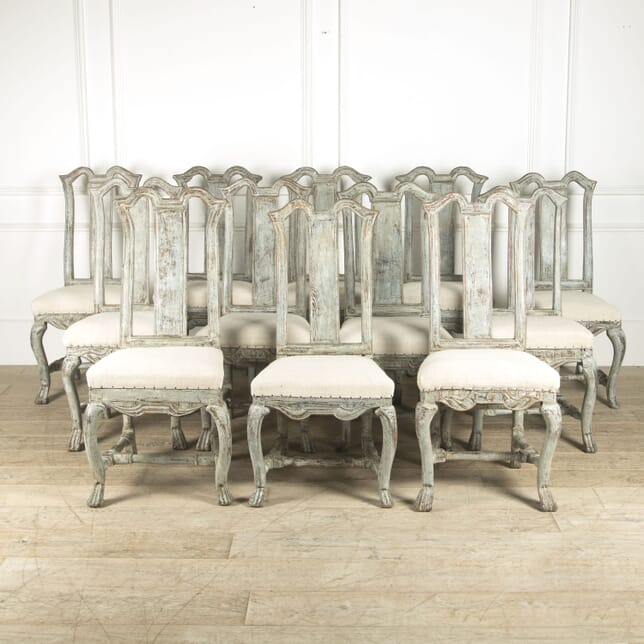 Set of 12 Rococo Dining Chairs CD1110221