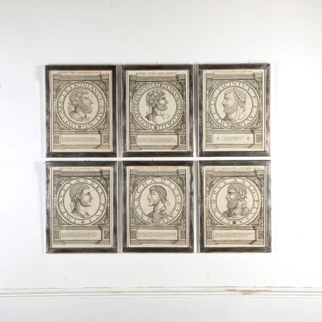 Set of 12 16th Century Roman Emperor Portraits WD7610607